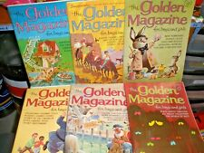 Vintage lot of 6 Golden Magazine for Boys & Girls 1966 EUC w/ new Barbie Ad