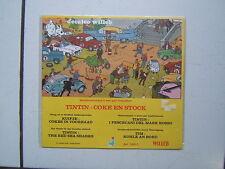 HERGE  TINTIN  /  DECALCO WILLEB / COKE EN STOCK /  1978