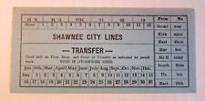 Vintage Shawnee Oklahoma City Lines Streetcar & Trolley Transfer