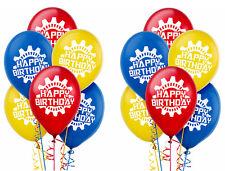 12ct Machine Robots Happy Birthday Printed Latex Balloon Party Decoration Supply