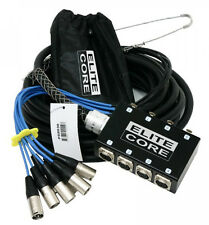 Elite Core 8 Channel 30' ft Pro Audio Stage Cable XLR Mic Sub Snake - PS8030