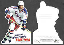 1996-97 NY Rangers' Wayne Gretzky, City of Brantford Die-Cut Postcard...