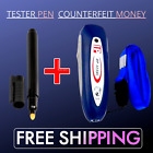 2in1 Mini Counterfeit Money Dollar Bill Detector & Tester Pen Fake Currency US
