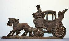 Art Scarce Ca 1900 Large Dynamic Advertising Horse Drawn 2 Wheel Carriage Serigraph Animals