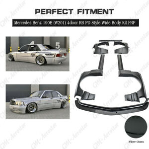 FRP RB PD Style Wide BodyKit(Lip,Fender,Wing) For Mercedes Benz 190E (W201)4door