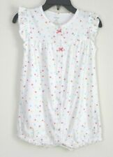 Carter's White Polk- a- Dot One Piece Outfit Infant/ Toddler Girl's Sz 24 Mon B
