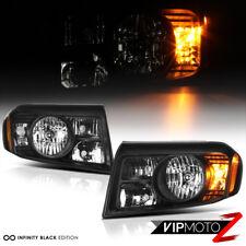 2009-2011 Honda Pilot Black Factory Replacement Headlights Headlamps Left Right
