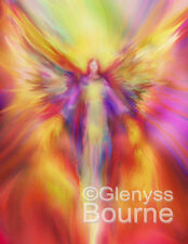 ARCHANGEL URIEL PICTURE Guardian Angel Art Energy Painting by Glenyss Bourne