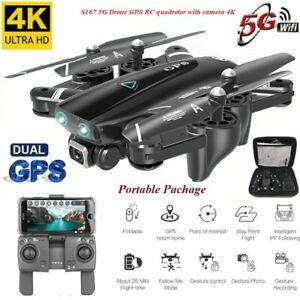 S167 5G Drone GPS Quadcopter With 4K WIFI FPV Foldable Off-Point Video Helicopte