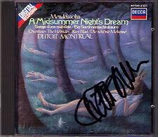 Charles DUTOIT Signed MENDELSSOHN A Midsummer Night's Dream Hebrides Ruy Blas CD