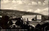 Bielefeld Ansichtskarte 1961 gelaufen Blick zur Oetkerhalle und Teutoburger Wald