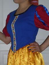 Déguisement Blanche-Neige (robe+cape) fait main - Handmade Snow White costume
