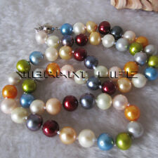 """18"""" 6.0-8.0mm Multi Color Fresh Water Pearl Necklace M1 UE"""