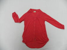 Billabong Women Medium Top Blouse Shirt Long Sleeve Watermelon