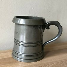 Lovely Early Victorian English Pewter PINT Beer Mug Fully Marked