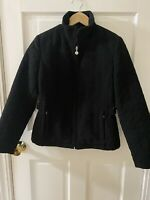 GALLERY Women's Size PS Black Zip Front Jacket Light Weight Quilted