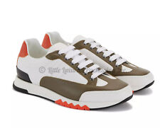 NEW IN BOX, SOLD OUT Authentic Hermes Trail Sneakers Blanc/Nokcha/Orange 41.5