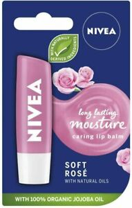 Nivea Soft Rose Caring Lip Balm - 4.8g