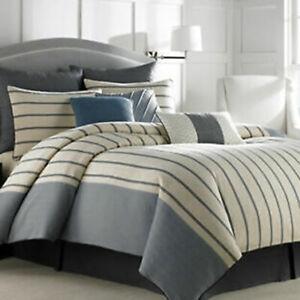 "New Nautica Aimsbury Pillow Sham Size Standard Beige 20"" x 26"""