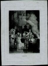 Estampes, gravures et lithographies du XIXe siècle et avant en scène de genre pour Romantisme