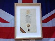 Oath of Allegiance Light Dragoons (framed with Cap Badge)