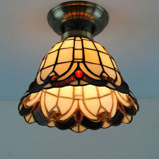 """8"""" Tiffany Shell Pendant Light Retro Stained Glass Restaurant Ceiling Lamp CL224"""