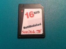 SanDisk MMC-mapa, como tarjeta SD, SD-card, 16 mb., usado, como nuevo, nº 441