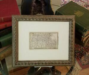 Framed Original 1887 Antique Map of Massachusetts
