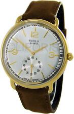 Ruhla Classic Herrenuhr Made in Germany kleine Sekunde braun gold dress watch