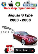 Jaguar S type 2000 - 2008 Workshop Repair Manual