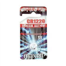 Maxell pila boton litio Cr1220 3V Blister*1 EU