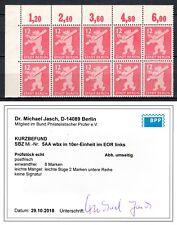 SBZ Berlin Brandenburg 5AA wbx 10er ER postfrisch geprüft Kurzbefund BPP 3000 M€