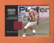 2001 FLEER PREMIUM DAVID BOSTON GAME-USED JERSEY #d 417/900 ARIZONA CARDINALS