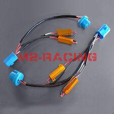 2x 9004 9007 LED HID Conversion Kit Error Free fix Load Resistors Wiring harness