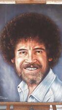 Bob Ross Joy of Painting TV large Original Oil Painting Art Black Velvet  J325x