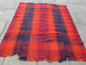 Old Tribal Nomadic Hand Made Persian Oriental Orange Wool MOJJ Kilim 196x180cm