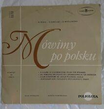 Vintage Polish Language Course 3 Vinyl  Records