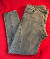 """LAURA ASHLEY Women's Zip Fly Grey Jeans UK 14 W35"""" x L30"""""""