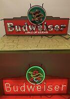 Vintage 4' Budweiser King Of Beers Neon Sign