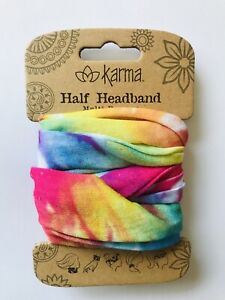MULTICOLOR TIE DYE Die Half headband by Karma Gift boho bandeau natural life