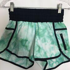 "Lululemon Tracker Shorts II Size 4 Spray Dye Blue Tropics 4"" Lined Run Pocket"