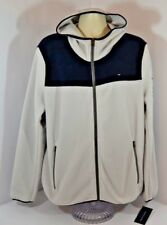 NWT Tommy Hilfiger Spell Out Zip Up Hoodie Fleece Jacket...