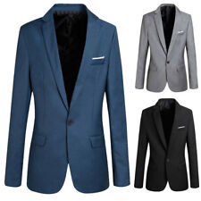 Fashion Mens Classic Formal Business Suit Blazer Slim Fit Chic Coat Jacket Hot