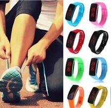 Fashion Hot Men/Women Sport LED Waterproof Rubber Bracelet Digital Wrist Watch.