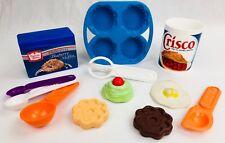 Fisher Price Fun with Food Baking Set Crisco Egg Box Lot Cupcake Cake Spoons ++