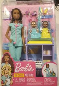 Barbie You Can Be Anything Doll Baby Doctor Brunette age 3+ Girls Birthday Gift