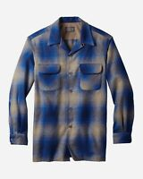 Pendleton Original Board Shirt 100% Umatilla Virgin Wool Classic Fit Blue 32221