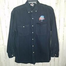 Planet Hollywood Maui Long Sleeve Button Down Shirt Navy Size Large
