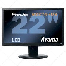 Monitor iiYAMA ProLite B2274HDS Pantalla LED Full HD 1920X1080 HDMI-VGA-DVI