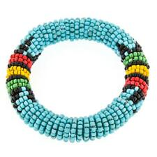ETHNIC STYLE TURQUOISE BLACK YELLOW HANDMADE SEED BEADS BANGLE bracelet